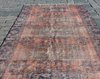 WIDE RUNNER OUSHAK Vintage Rug, 49x118 inch,126x300 cm,Vintage Rug, Hand Made Turkish Oushak Rug, Hallway Rug, Vintage Runner Rug, Wool Rug