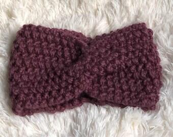 Twisted Headband / Knit Headband / Chunky Knit Headband / Women's Headband / Knit Ear Warmer / Chunky Knit Ear Warmer / Cable Knit Headband