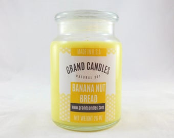 Banana Nut Bread Soy Candle | Soy Candles | Scented Soy Candle | Candles | Aromatherapy | Scented Candles | Candle | Vegan Candle | Soy Wax