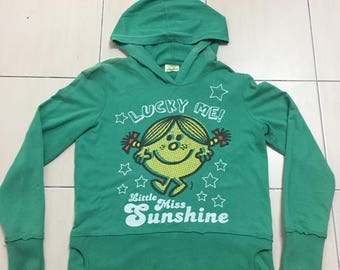 Vintage Mr. Men & Little Miss Big Cartoon Logo Little Miss Sunshine Sweatshirt Hoodies