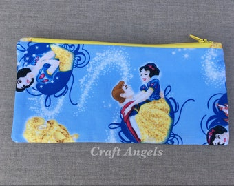 Character Zipper Pouch, Cosmetic Case, Personalized Pencil Case, Back To School /Gift For Her/ School Supplies.