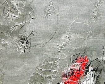 Original abstract painting, 100x120, mixed media, 2017