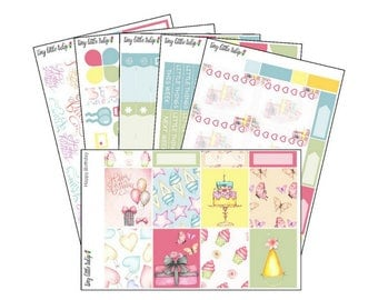 Planner Stickers Happy Birthday Weekly Kit