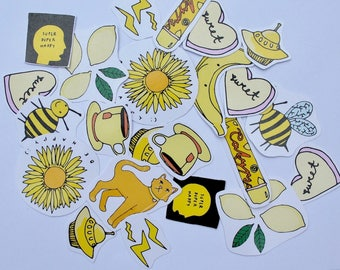 yellow aesthetic sticker pack