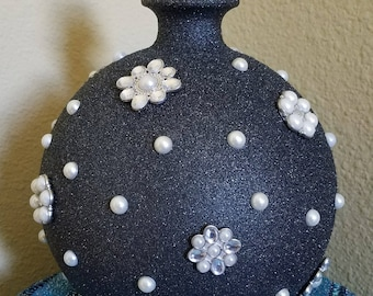 Round Bottle with Pearl Accents