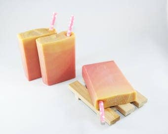Sex on the Beach   Handcrafted Artisan Soap   Luxury   Cold Process   Gift for Her   Novelty Soap   Home Decor   Palm Free