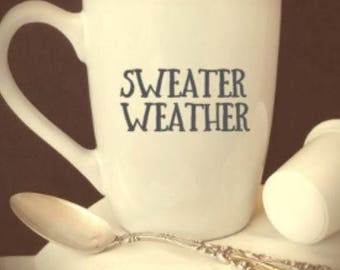 sweater/weather/coffee/cup/fall/harvest/basic/mug/gift
