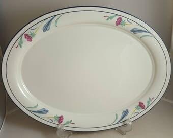"Lenox Poppies on Blue 14 1/4"" Platter"