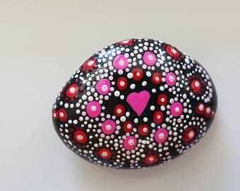P.S., Mandala, Painted Rock Mandala, Painted Rock Art, Acrylic Painted Rock Art, Rock Art, A-Rock-A-Day, Daily Meditation