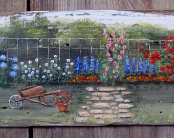 Grandma's Flower Fence Sign