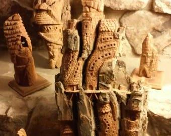 Tree Bark Carvings