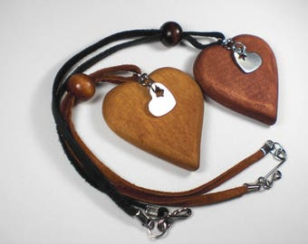 Rear View Mirror Heart-Star, Heart Charm