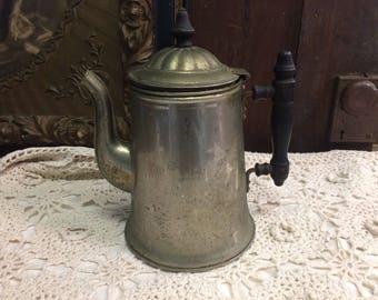 Antique ACME Silver Teapot Pitcher