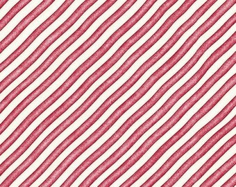 Red and White Diagonal Stripe