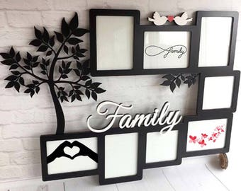 Family frame. For parents. Beautiful gift. Wood decor. Wooden frames. I love you. Mother, mom, dad, son, daughter, presents, happy birthday