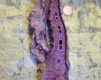 cottonwood barkHobit house wall hanging