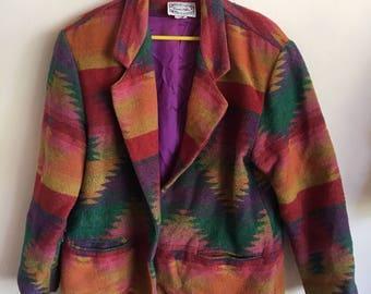 90s Native American Art School Blazer