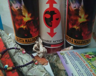 Evil be gone candle set// Quita Maldicion candle set// Protection set// Reverse candle set//