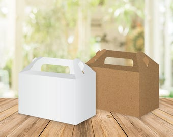 4 Printed Blank Gable Boxes, Wedding favors, Bridal shower favors, custom wedding favor, party favors, baptism favor, birthday favor