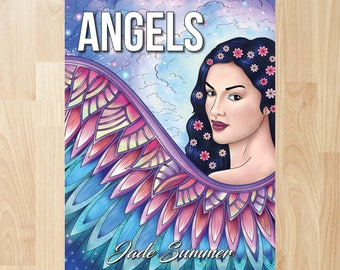 Angels by Jade Summer (Coloring Books, Coloring Pages, Adult Coloring Books, Adult Coloring Pages, Coloring Books for Adults)