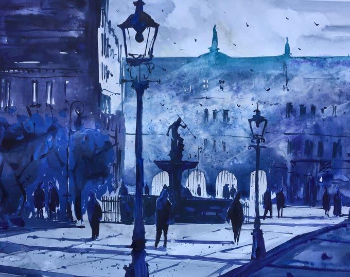 Gdansk in watercolor
