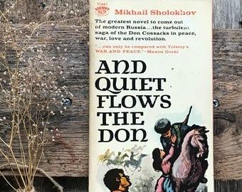 Vintage book Russian literature Mikhail Sholokhov's, And Quiet Flows the Don