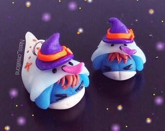 Tsum tsum Eeyore/Eeyore disguised as ghost Halloween handmade pendant