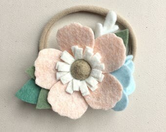 Garden Bloom Flower Headband, Felt Flower Headband, Baby Headband, Flower Crown Headband