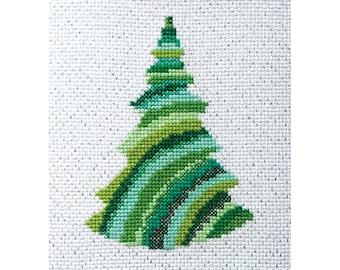 Christmas tree - cross stitch PDF pattern, modern cross stitch, instant download