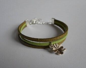 Lucky bracelet suede