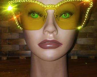 Bling Yellow sunglasses
