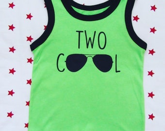 Two Cool, Two cool birthday shirt, two year old birthday shirt, two year old tank top