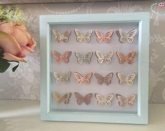 Duck Egg Butterfly Box Frame