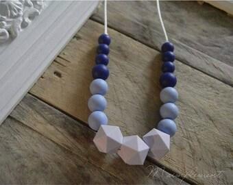 Teething necklace. [Purple gradient].