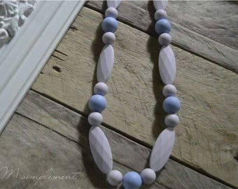 Teething necklace. [Simply lilac].