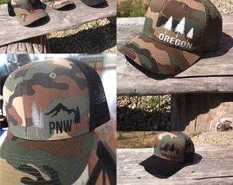 Oregon/PNW snapback hats