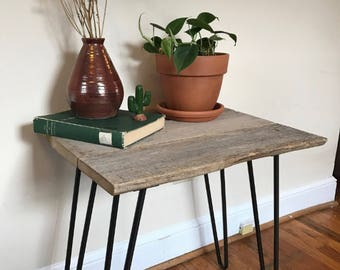 150 Year Old Reclaimed Barn Wood Side Table