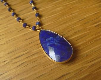 Necklace beads lapis lazuli