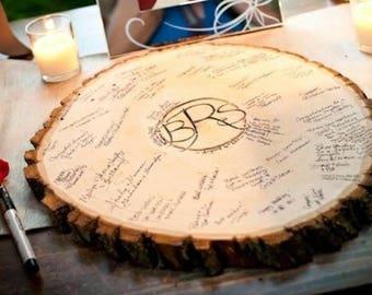 Wedding Center Piece/Guest Signing Tree Stump