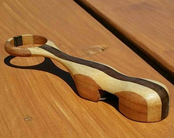 Cherry Maple and Black Walnut Wood Speed Bottle Opener