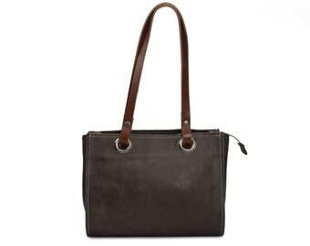 handmade, leather, shoulder bag, lined, inside pocket, saddle leather, shabbies leather