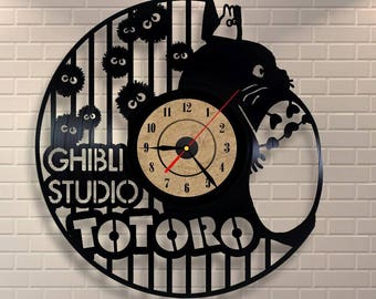 Totoro clock, Studio Ghibli baby, Vinyl Wall clock, My neighbor Totoro, Totoro baby shower, Totoro party, Totoro art, Totoro birthday
