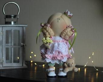 Baby dolls Art doll Decor doll Soft decor Handmade doll Fabric doll Tilda doll Textile doll Cloth doll Rag doll Gift doll Interior rag doll
