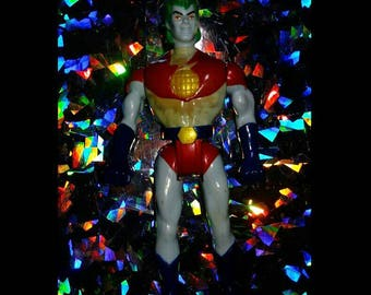 RARE Vintage 90s Color Changing Captain Planet Action Figure by Tiger Toys marked down