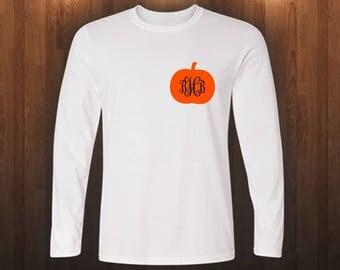 Monogram Pumpkin Fall Shirt