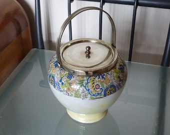 Paisley pattern biscuit barrel