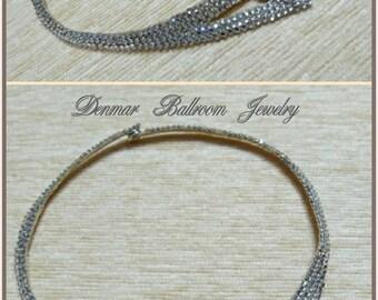 Ballroom necklace - Textile, Rhinestones