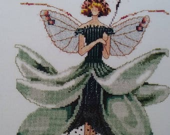 "New Mirabilia Cross Stitch Pattern ""Magnolia"" Spring Garden Party Collection for Pixie Couture by Nora Corbett"