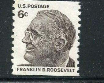 Franklin D Roosevelt Stamps/10 Unused Coil Stamps Vintage 1060's