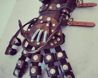 Steampunk Cyberpunk armor gauntlet glove hand cosplay